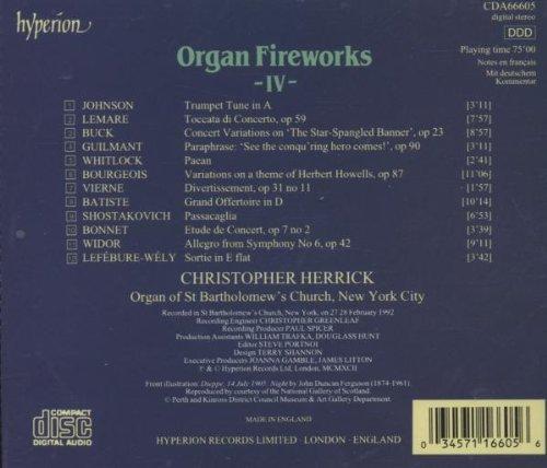 Organ Fireworks IV by Hyperion UK