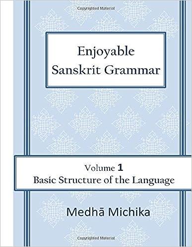 Amazon com: Enjoyable Sanskrit Grammar Volume 1 Basic