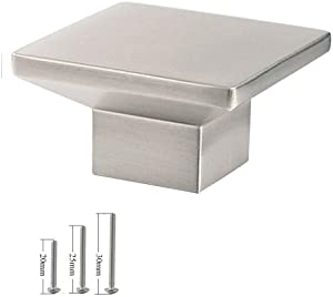VIBORG-HK (5-pack) Deluxe Square Cabinets Knobs and Pulls Brushed Nickel Finish, Modern Dresser/ Drawer/ Cupboard Knobs and Handles, Zinc Alloy Casting, 4mm Extra Thick, Heavy Duty, Durable