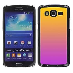 LECELL--Funda protectora / Cubierta / Piel For Samsung Galaxy Grand 2 SM-G7102 SM-G7105 -- Gradient Colors Orange Pink Purple --