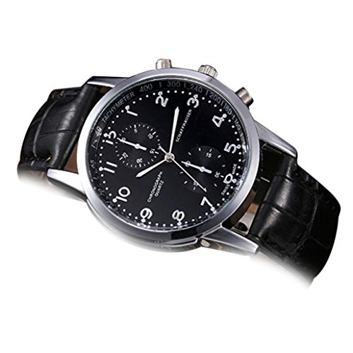 Siviki Men Wrist Watch, Swiss Army Chrono Classic Chronograph Watch (Black)
