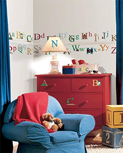 Alphabet Wall Decal 10 x 18in (Alphabet Accent)