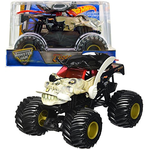Hot Wheels Year 2016 Monster Jam 1:24 Scale Die Cast Metal Body Official Truck - Pirate's Curse (DHY73) with Monster Tires, Working Suspension and 4 Wheel Steering