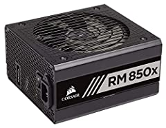 CORSAIR RM850x series power supplies are built with the highest quality components to deliver 80 PLUS Gold efficient power to your PC. Using only Japanese 105 DegreeC capacitors, users can depend on an RM850x PSUs' long life and reliability, ...