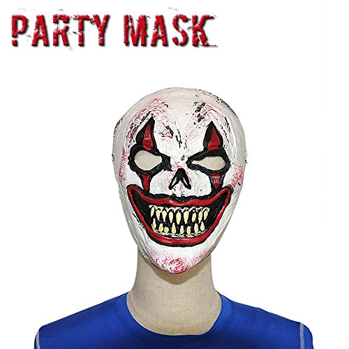 Monstleo Latex Rubber Head Mask Halloween Party Costume Decorations Clown ()