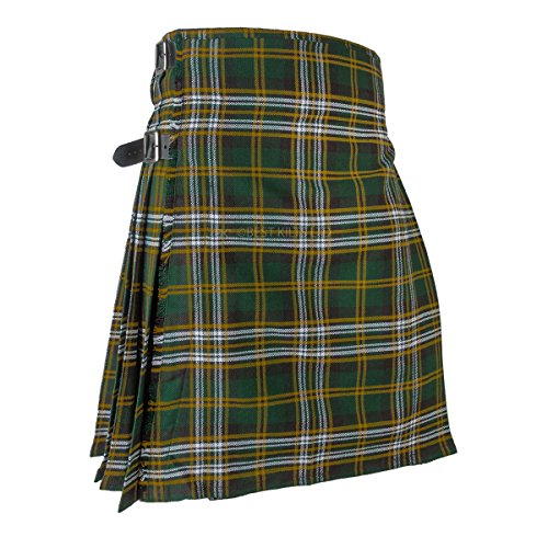 Best Kilts Men's Scottish 5 Yard Party Kilt Heritage Of Ireland - Kilt Irish