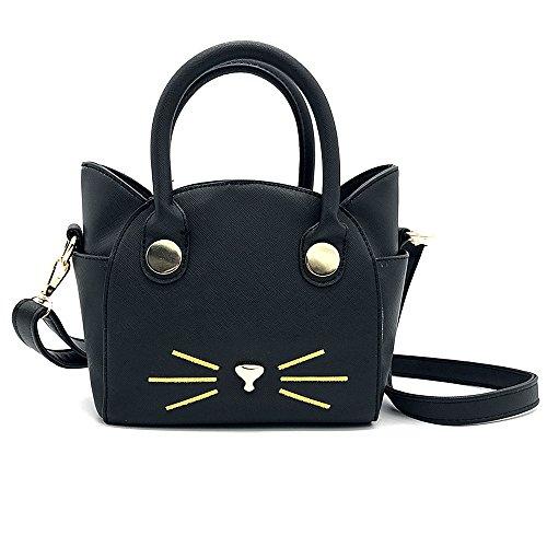 Women Girls Cat Satchel Cross Body Shoulder Bag Tote Handbag