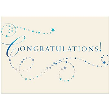 jam paper blank congratulations card sets blue stars congrats cards 25pack - Congratulations Cards