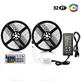 LITAKE 2018 UPGRADED LED Strip Lights, Waterproof Outdoor Rope Lights, SMD 5050 RGB Light Tape, 10M/32.8ft 300 LEDs Ribbon with 44 Key Remote for Christmas, Parties & Game Room Decor
