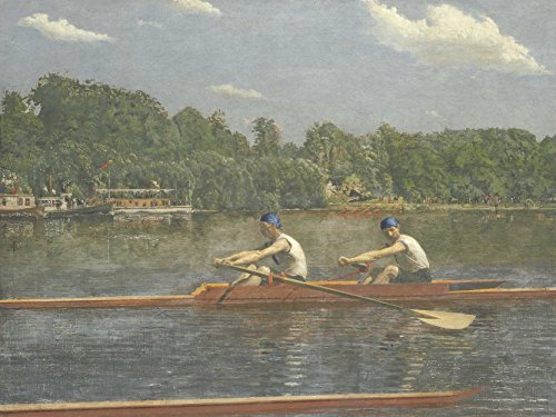 Thomas Eakins American Biglin Brothers Racing Old Art Painting Poster Print