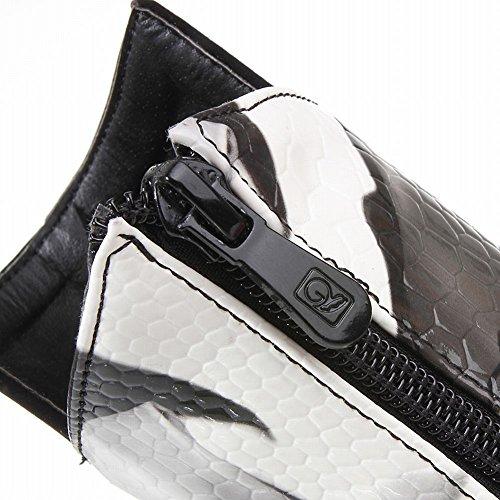 Mee Shoes Damen Stiletto Nubukleder spitz Reißverschluss Ankle Boots Mehrfarbig