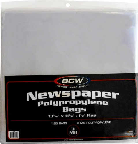 BCW Newspaper Bags 100 Pack
