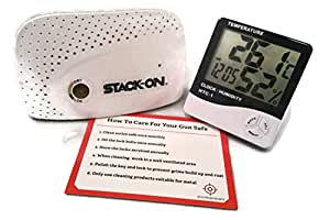 SPAD-1500 Wireless Rechargeable Dehumidifier for Stack-On Long-Gun Safes PLUS Humidity Gauge