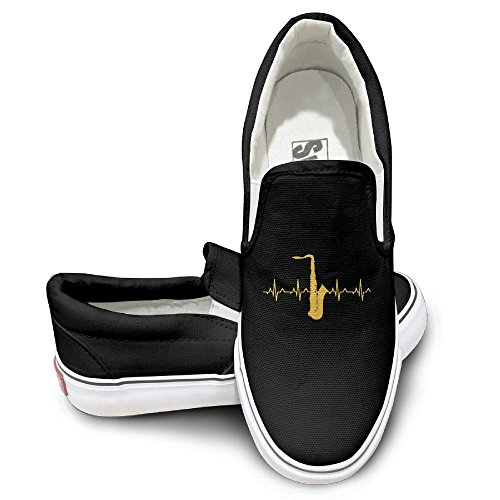 SH-rong Saxophone Heartbeat Unisex Canvas Sneakers Shoes Size 40 - Dance Bill Sunglasses