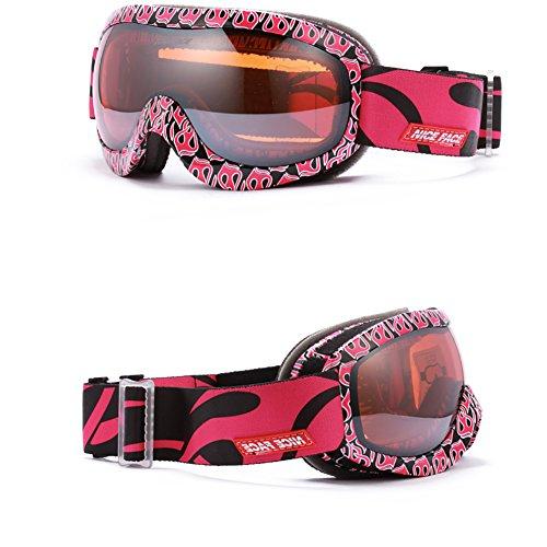 SE7VEN Lunettes De Neige Multicolore,Lentille Double Couche Anti-buée Escalade Masques Dames Plein Air De Ski-alpinisme G