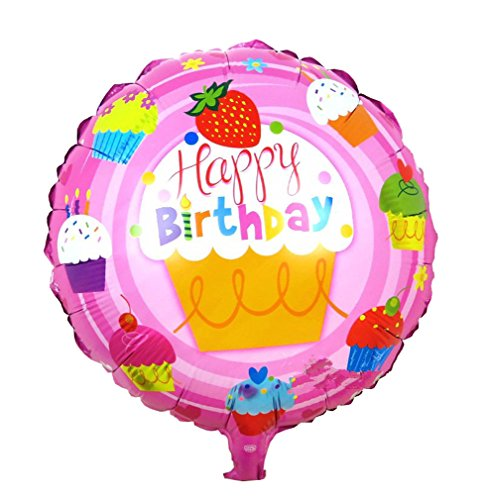 [Happy Birthday Foil Balloons Children Inflatable Toys Helium Balloon Party Decoration (LightPink)] (Dance Central Character Costumes)