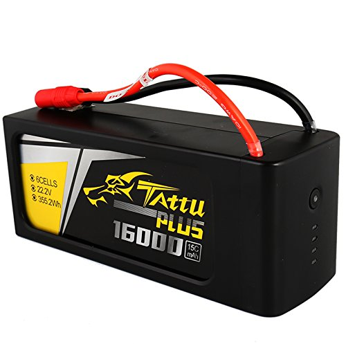 Tattu Plus LiPo Smart Battery Pack 16000mAh 22.2V 15C 6S with AS150+XT150 plug for UAV Drone Integrated with Smart BMS by Tattu