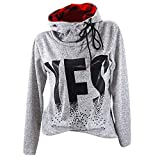 Preferential New Zlolia Fashion Women Long Sleeve Letter Print Plaid Patchwork Oversize Hoodies Blouse Top Pullover