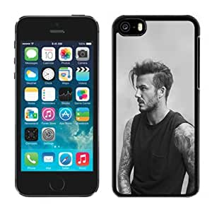 New Beautiful Custom Designed Cover Case For iPhone 5C With Sports Good Looking Handsome Beckman Grayscale Phone Case