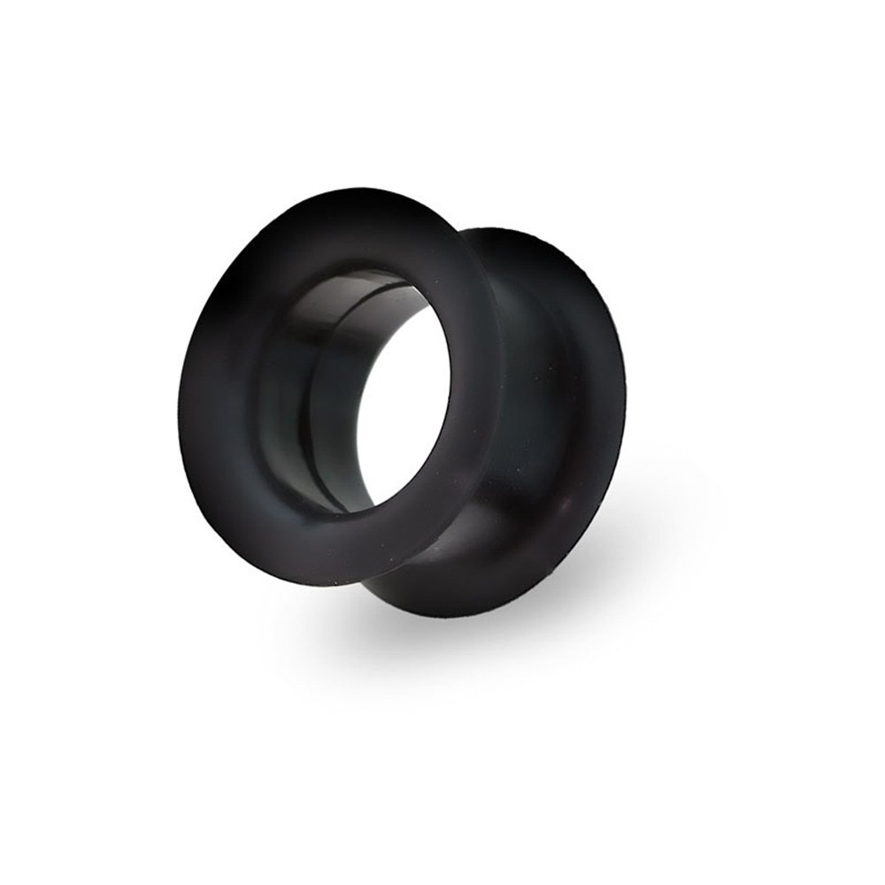 Dynamique Pair Of Jumbo Silicone Black Tunnel Plugs