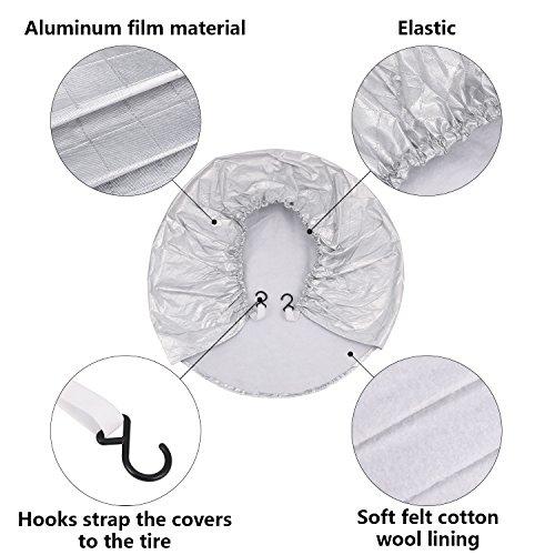 Kohree Tire Covers Tire Protectors RV Wheel Motorhome Wheel Covers Sun Protector Waterproof Aluminum Film, Cotton Lining Fits 30'' to 32'' Tire Diameters Set of 4 by Kohree (Image #5)