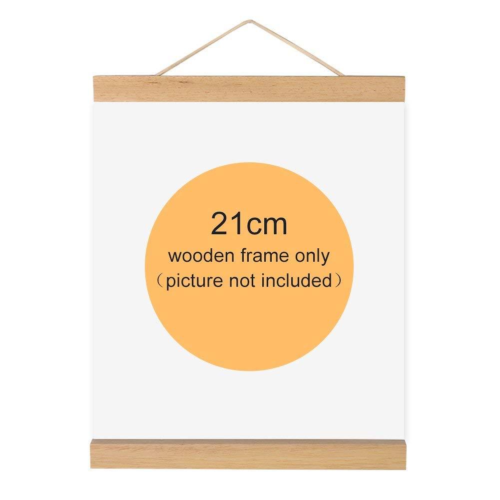 Magnetischer Bilderrahmen, Holz, natur Holz Rahmen Bild Poster ...