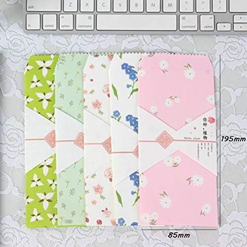 FANGDAHAI BriefpapierZubehör 5 Teile/paket Kawaii Hallo pflanzen Umschlag Briefpapier Message Card Briefumschläge Büro Schulmaterial