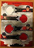 2016-17 Upper Deck Team Canada Juniors Hockey Material Quads Jersey Relics #TC4-PFPQ Haydn Fleury/Brendan Perlini/Travis