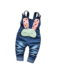 Kidscool Baby Cotton Denim Cute 3D Rabbit Soft To Wear Overalls