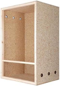 Terrario: madera Terrario para Reptiles 60 x 120 x 60 cm frontal ventilación, de alto Terrario de OSB Madera, para kletternde Animales: Amazon.es: Productos para mascotas