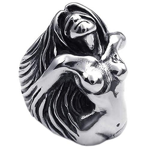 KONOV Vintage Stainless Goddess Silver