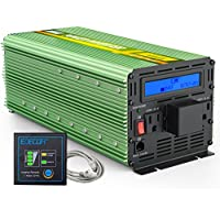 EDECOA 3000W Power InverterDC 24V to AC 110V with LCD Display and Remote Controller