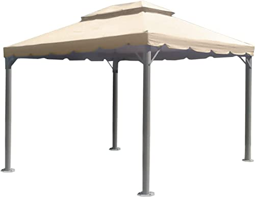 Garden Winds 10 x 12 Two-Tiered Gazebo Replacement Canopy Top Cover – Riplock 350