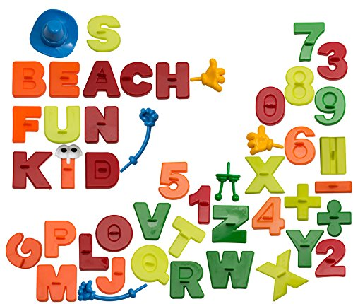 CoolSand Learning Sand Molds and Tools Kit (44 Pcs) - Works with All Other Play Sand Brands - Includes: 26 Alphabets, 15 Numbers and Math Signs, and 8 Creative Parts - Sand Not Included