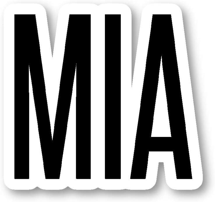 "MIA Miami Sticker Airport Codes Stickers - Laptop Stickers -"" Vinyl Decal - Laptop, Phone, Tablet Vinyl Decal Sticker S12176"