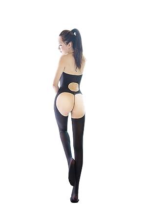 Femme Noir Bodystocking Combinaison Sexy Nuisette Bretelle Lingerie  Babydoll Sexy Bas Siamois Jacquard Collants Entrejambe Ouvert 8e14f3aac72