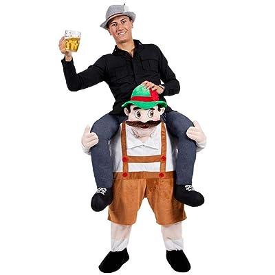 BAVARIAN BEER GUY CARRY ME MASCOT FANCY DRESS COSTUME: Juguetes y juegos