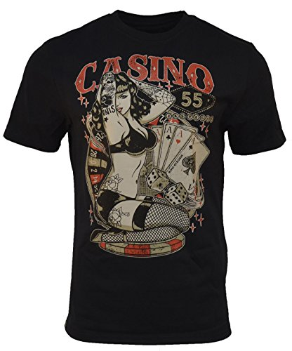 King Kerosin - Casino 55 - Regular T-Shirt - Black XXXL