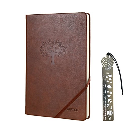 Journal Note book,WERTIOO Leather Diary Hardcover Classic Writing notebook A5 Dotted Pages Thick Paper Business Thanksgiving Gift for Men Women - Mans Journal