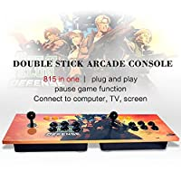 XFUNY Arcade Game Console Double Stick Arcade 815 Classic Games Machine 2 Players Pandora's Box Game Handle King of Fighters Double Fight Rocker from XFUNY