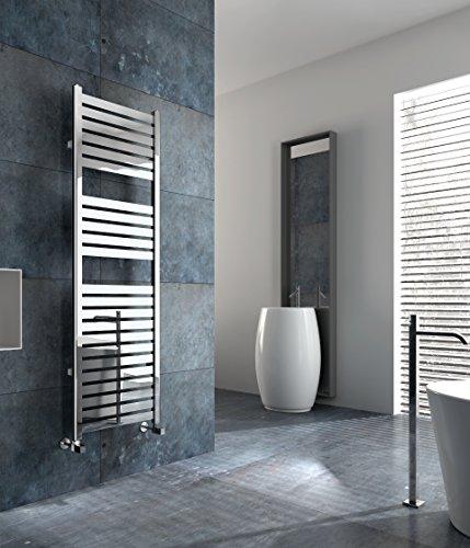Electric Towel Warmer for Bathroom Wall Mount Heated Rail Towel & Space Heater R13C-300. CDM