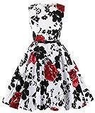 Kyпить Knee-Length Floral Zipper at Back Performance Dresses 2# 11~12 Yrs на Amazon.com