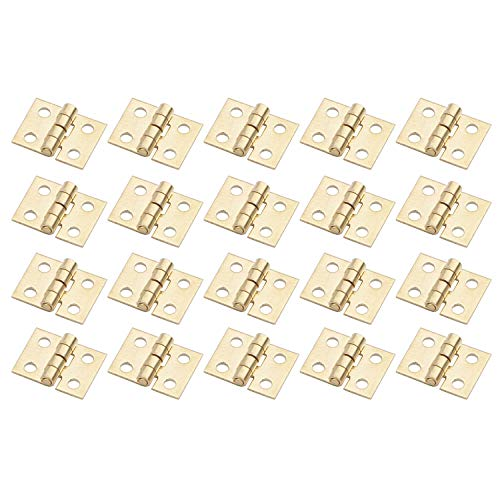 20PCS/LOT 108MM Mini Tiny Brass Hinge with Nails Jewelry Chest Gift Wine Music Box Dollhouse