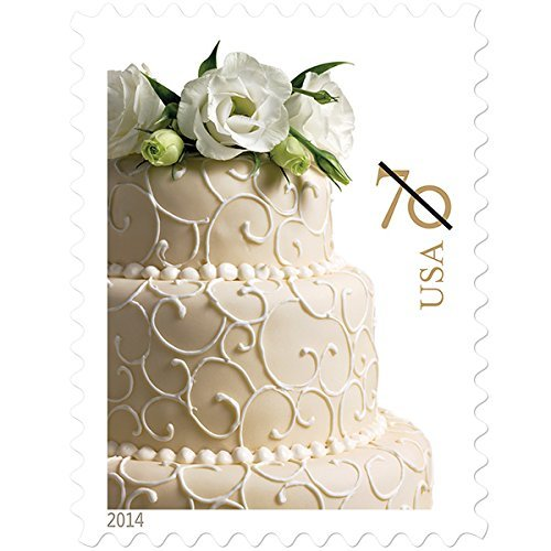 Wedding Cake Sheet of 20 X 70 Cent Stamps Scott 4867 By USPS by (Wedding Cake Stamp)
