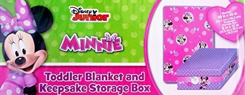 Disney Jr. Toddler Blanket & Keepsake Storage Box Minnie Mouse