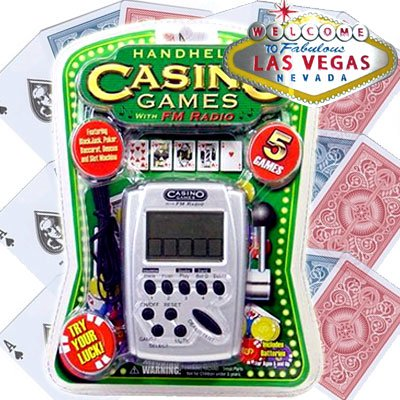 (Casino 5 Games Hand Held Electronic Game with FM Radio)