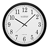 La Crosse Technology WT-3143A-INT 14-Inch Atomic Wall Clock, Black (3-Pack)