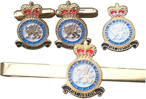 CUFF LINKS TIE SLIDE,LAPEL PIN SEPARATELY OR GIFT SET RAF ROYAL AIR FORCE