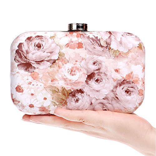 Evening Bag QEQE Exquisite Bag Bag Gorgeous Retro PU Flower Evening Lady Women's 3 Color 1 Fashion naUrFn