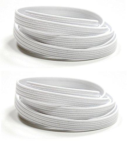 Patterson Medical Tylastic Shoelaces, White, 26''L x 5/16''W, 2 Pair